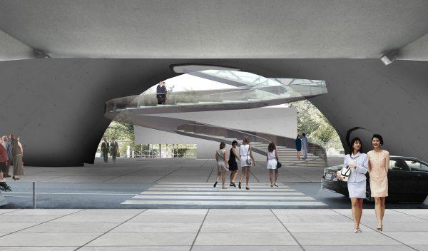 Concours de projet pour l'extension du siège de l'OMS à Genève - Cephalothorax