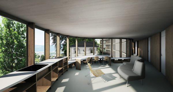 Concours nouvel EPS de Floreyres - Des chambres autour d'une cour