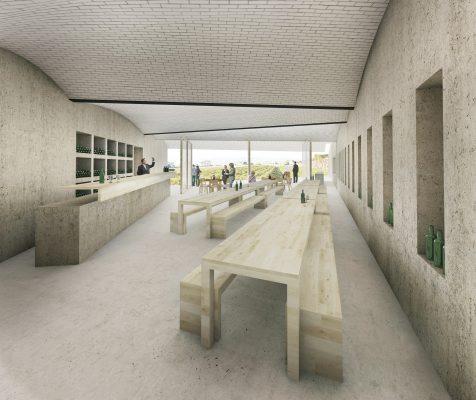 Concours d'architecture pour la Maison des Vins de la Côte - Entre deux murs