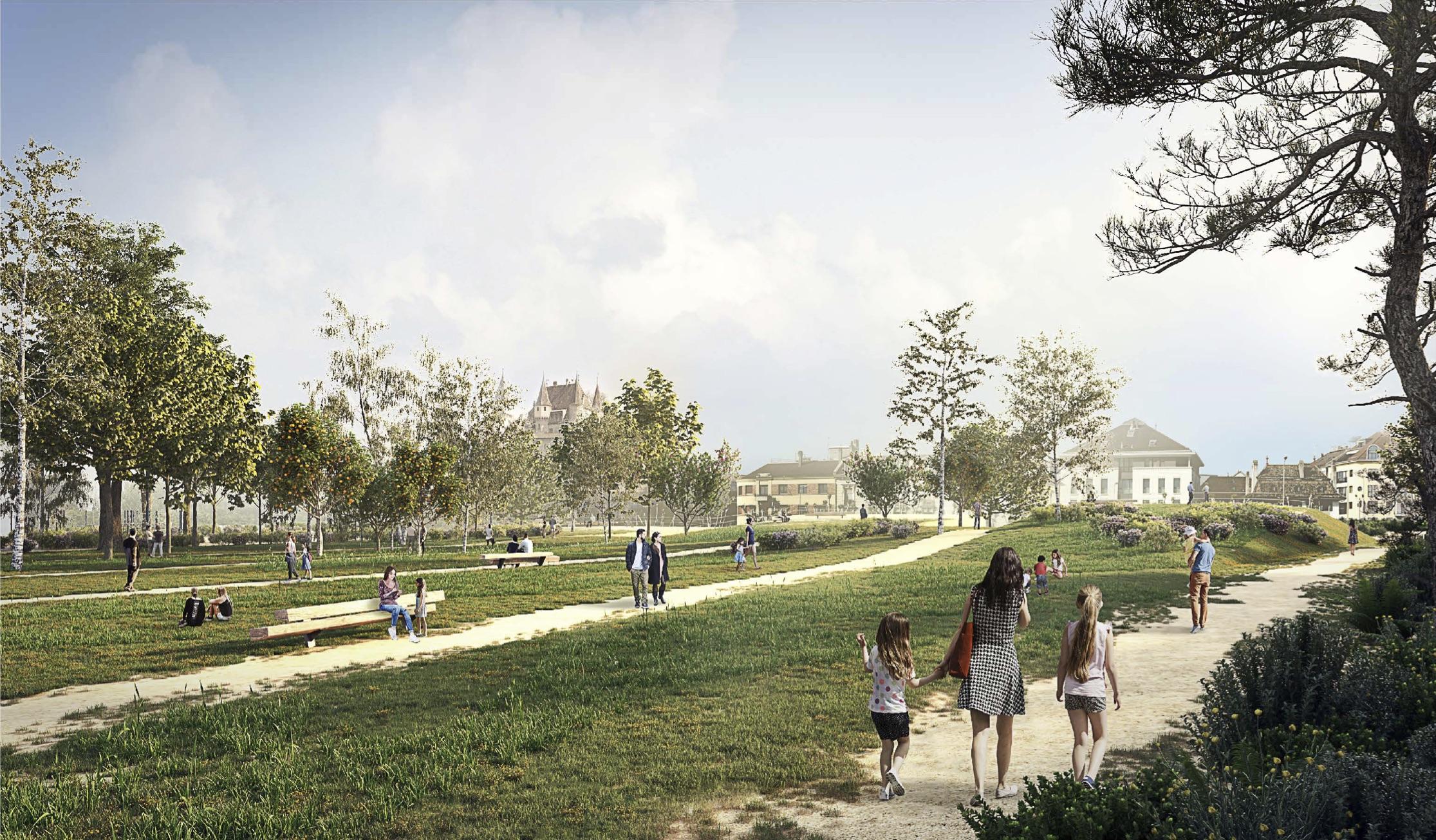 MEP Parc Perdtemps Nyon - De la Ville à la Rivière - Projet finaliste